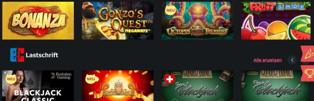 Casinos Lastschrift