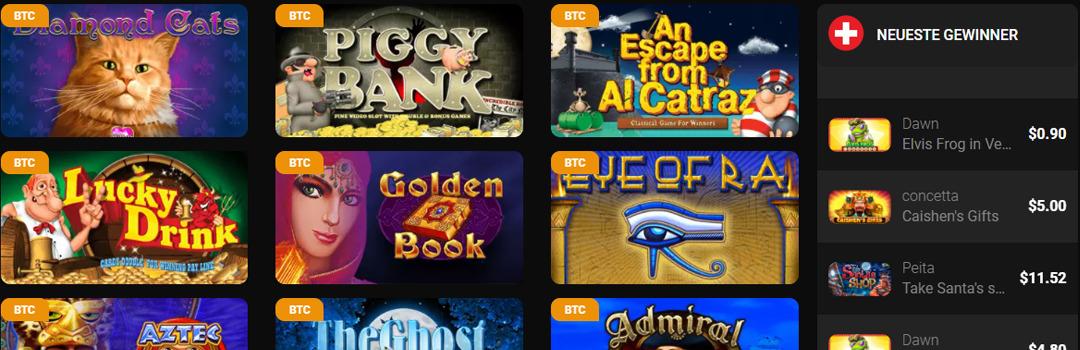 Große Auswahl an Spielen im Casino Chan