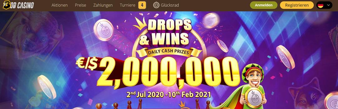 Beste Geldgewinne im Bob Casino Schweiz