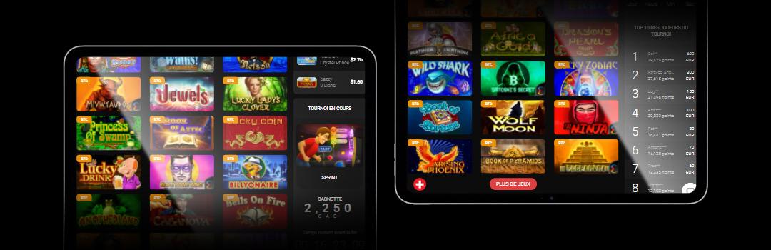 Meilleurs bonus de dépôt de casino en ligne