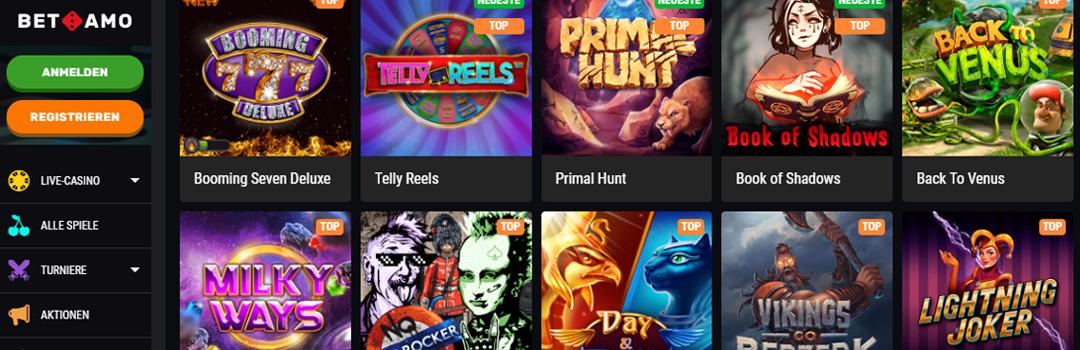 Die besten Betamo Casino Spiele Angebote