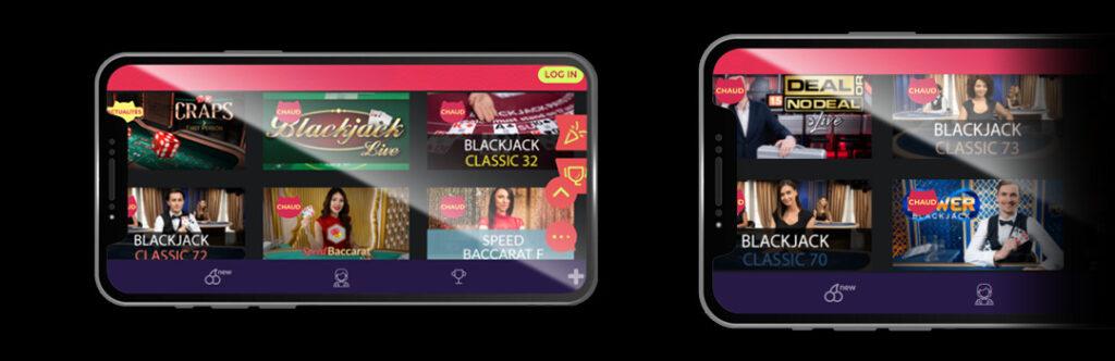 Meilleurs jeux de casino en direct sur mobile