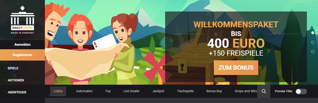 DasistCasino - Bestes deutsches Online Casino der Schweiz