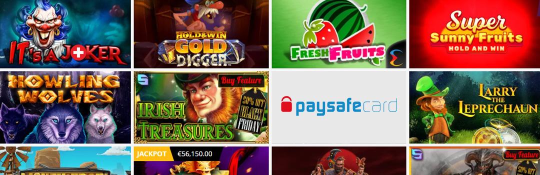 Meilleures machines à sous au casino Paysafecard