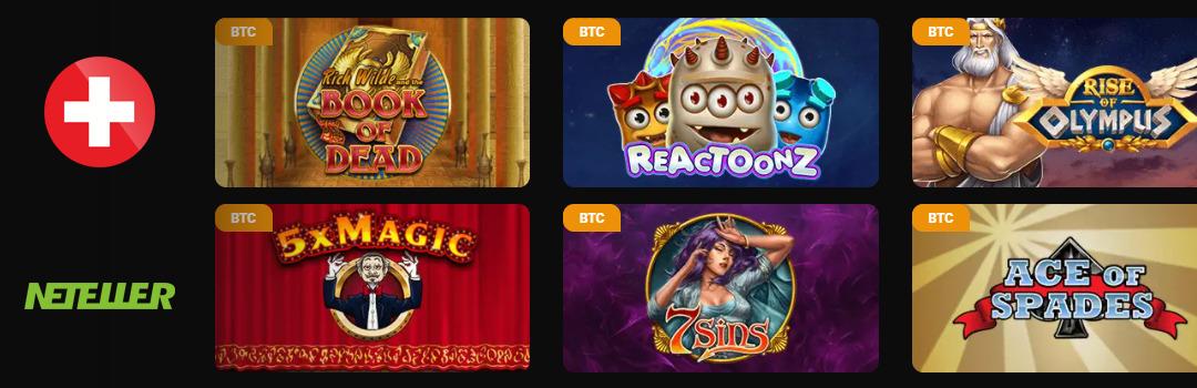 Meilleures machines à sous au casino Netent en Suisse