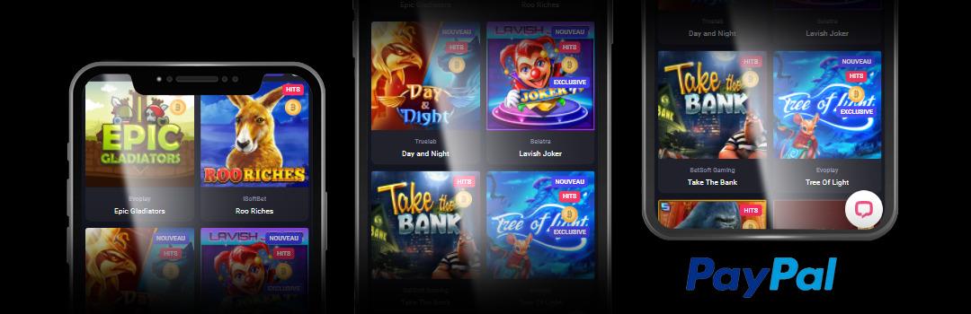 Meilleurs jeux de casino Paypal en Suisse