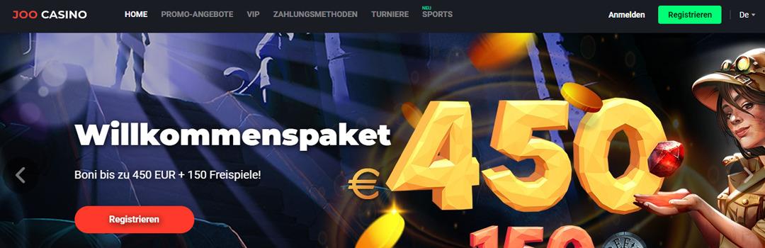 Bestes Online Casino für Schweizer - Joo Casino