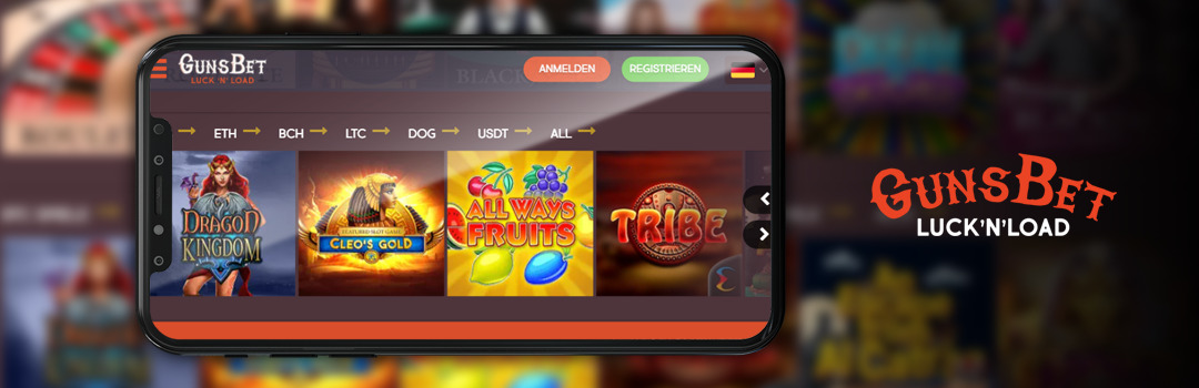 Spielen Sie die besten Slots im Gunsbet Casino Mobile