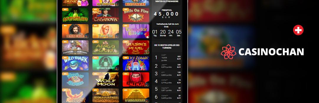 Bestes mobiles Casino der Schweiz - Casino Chan