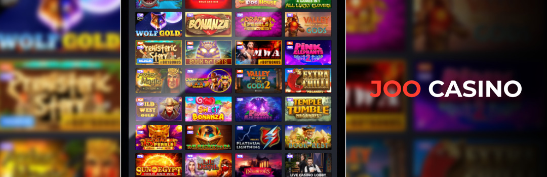 Top Joo Casino Slots auf dem Tablet