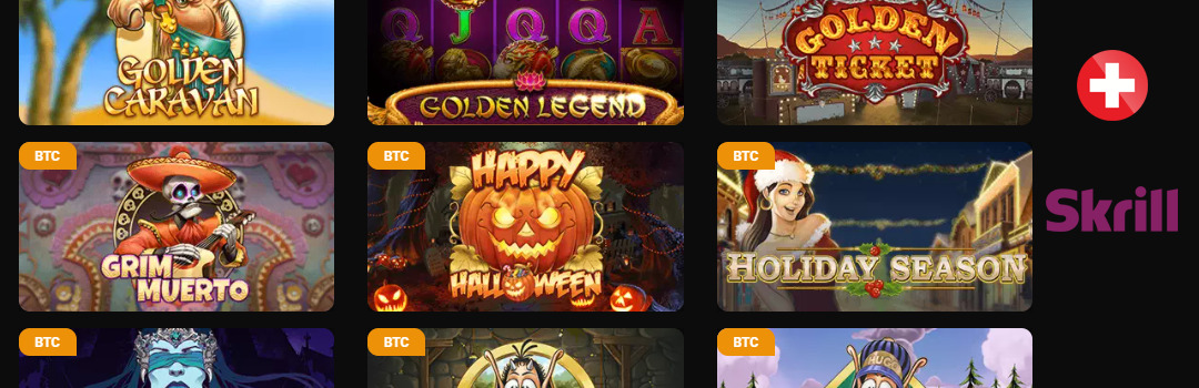 Énorme offre de jeux au casino Skrill en Suisse