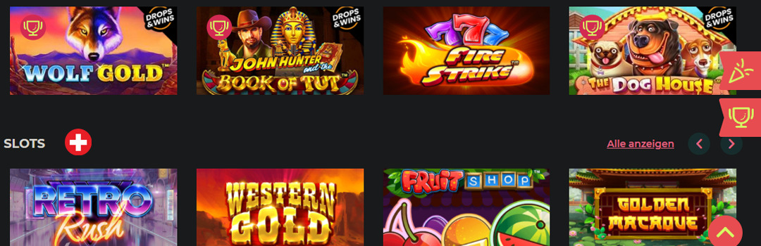 Beste Slots im Maneki Casino für Schweizer Spieler