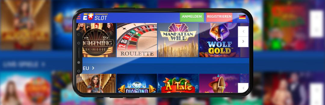 Glücksspiel im Euslot Casino auf dem Handy in der Schweiz