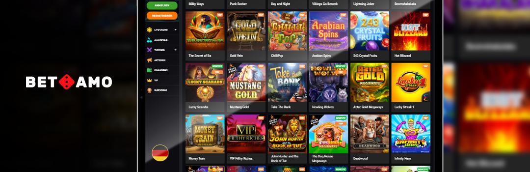 Die besten Spiele der besten Hersteller im Betamo Casino
