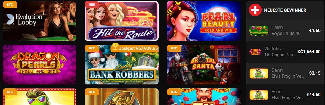 Lieblingsspiele von Schweizer Spielern im Betchan Casino