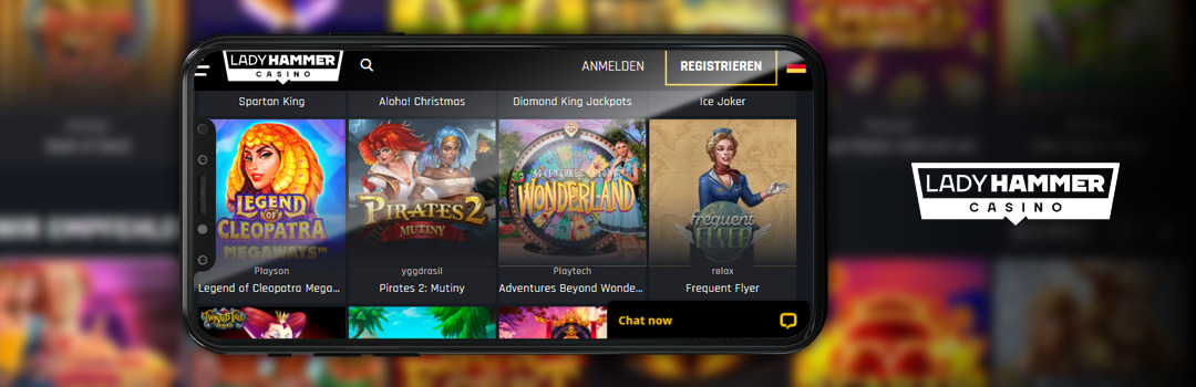 Top Mobile Casino Game Maker im LadyHammer Casino