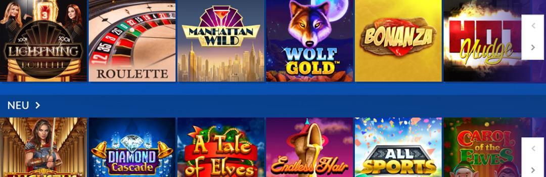 Top Auswahl an Glücksspielen in Euslot