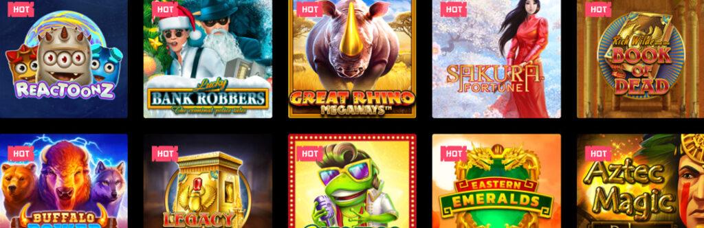 Das beste Slots-Angebot von Spin Samurai Casino