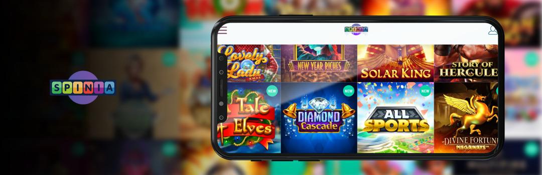 Bestes Angebot von Spinia Casino-Spielen für Handys