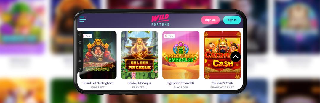 Die besten Spiele im Wild Fortune Casino auf dem Handy