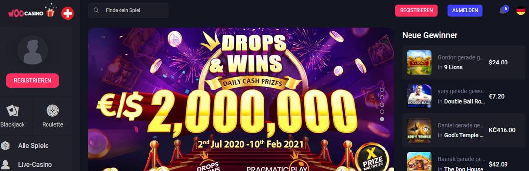 Bestes Online Casino mit täglichen Geldpreisen - Woocasino