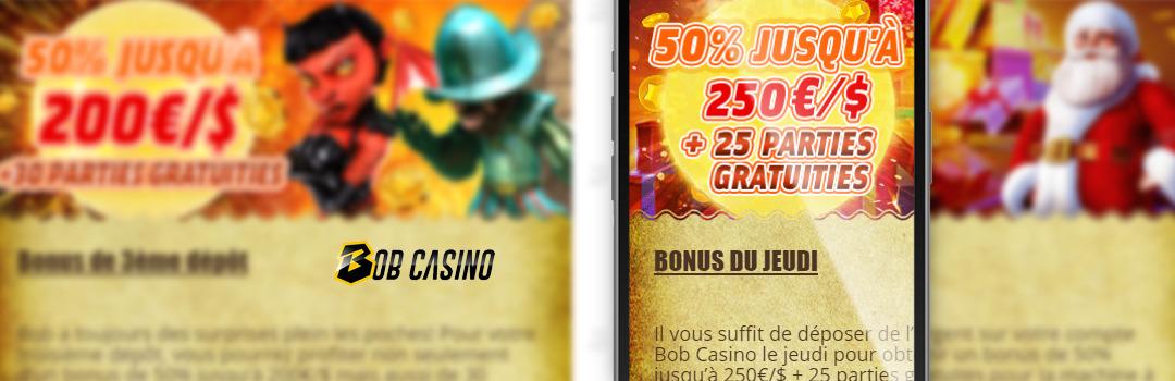Bonus au Bob Casino