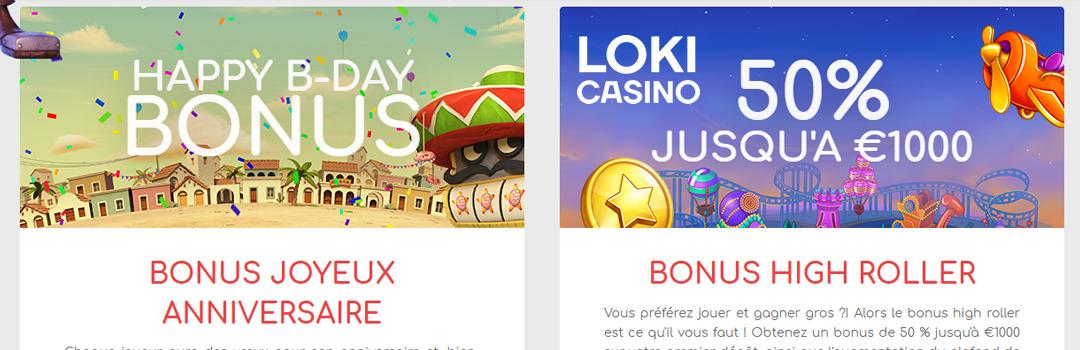 Bonus maximum du casino Loki pour les joueurs suisses