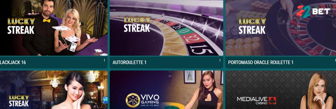 Meilleur casino en ligne 22bet en Suisse