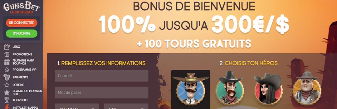 Meilleur casino en ligne de Suisse - GunsBet Casino