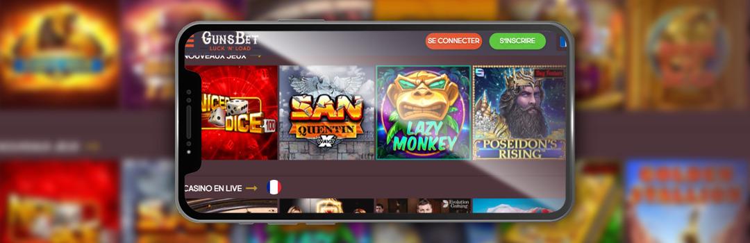 Meilleur casino mobile de Suisse - GunsBet Casino