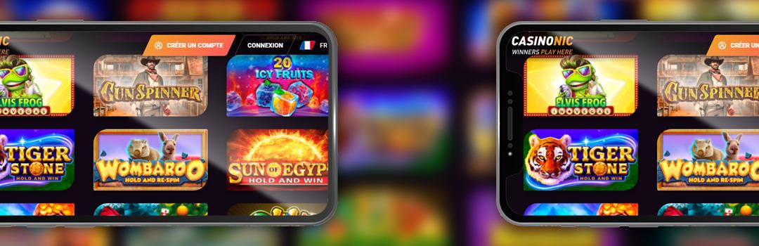 jouer au casino mobile Casinonic