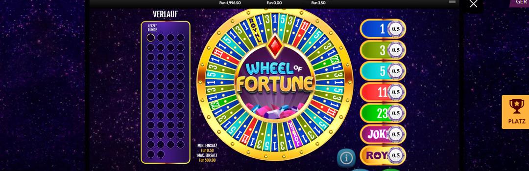 Spielen Sie Wheel of Fortune Slot in der Schweiz