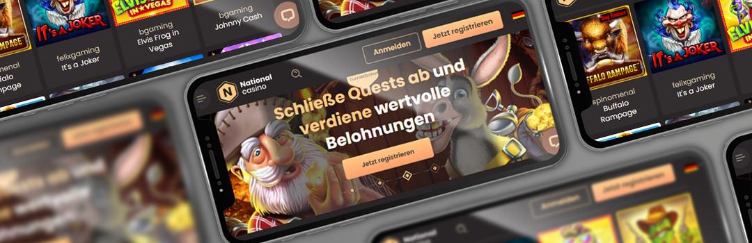 die besten Slots im National Casino auf Mobilgeräten