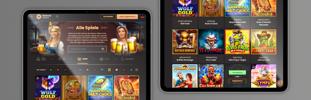 riesiges Angebot der besten Spiele im National Casino