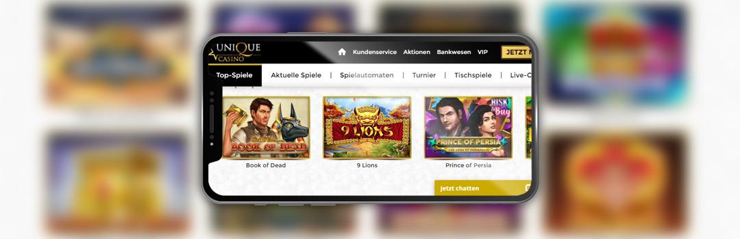 die besten Spiele im Unique Casino
