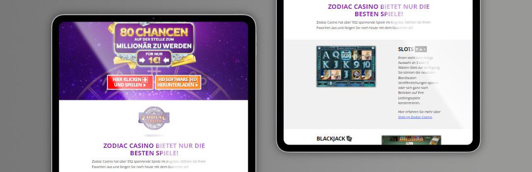 Das beste Spielangebot von Zodiac Casino in der Schweiz