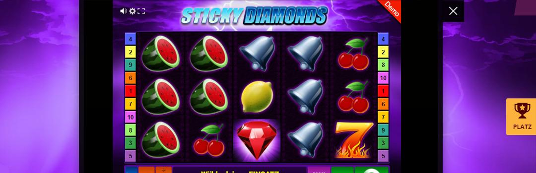 spielen Sie Sticky Diamonds Slot in der Schweiz
