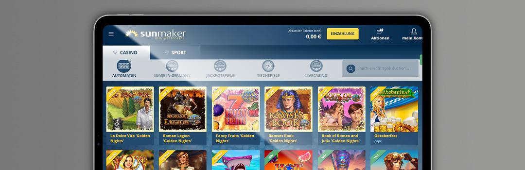 Spielen und wetten Sie im besten Casino der Schweiz - Sunmaker