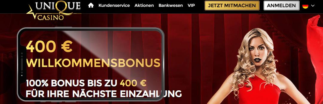 bestes Casino der Schweiz - Unique Casino