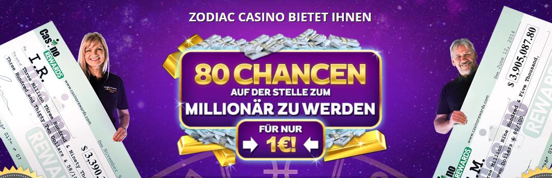 Bester Willkommensbonus vom Zodiac Casino