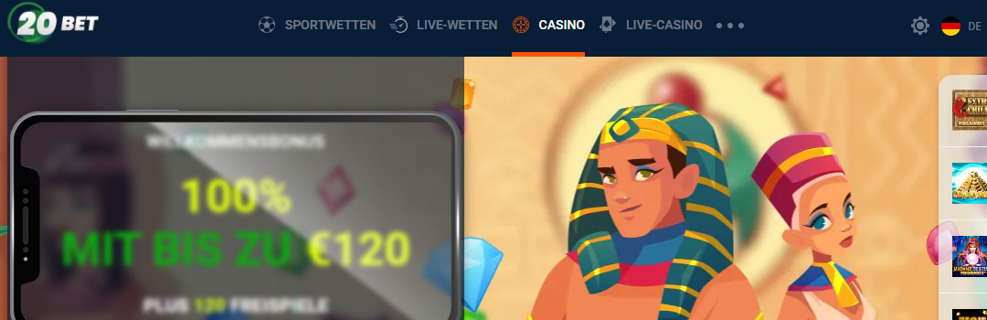 beste Boni im besten Casino 20bet
