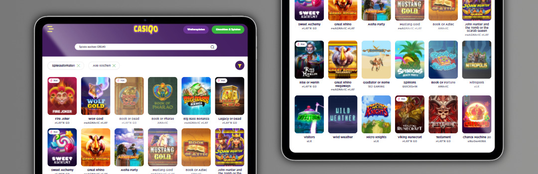 Eine große Auswahl der besten Spiele im Casiqo Casino