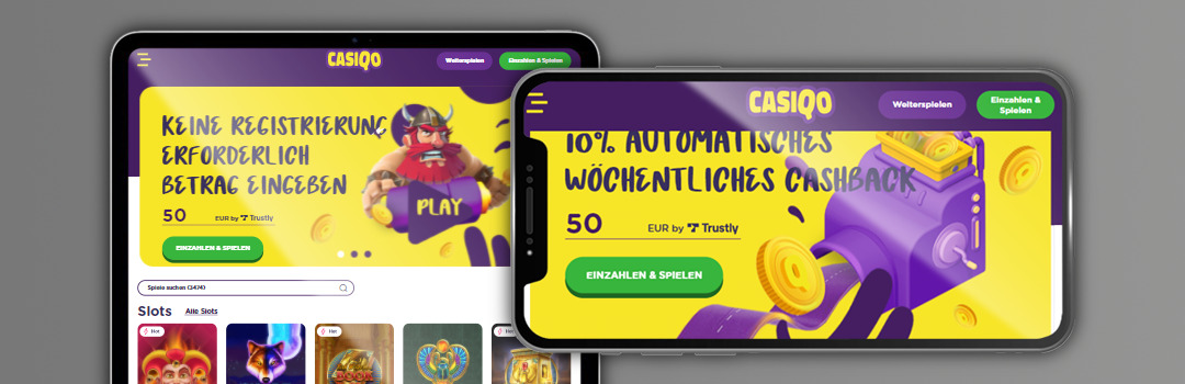bester wöchentlicher Cashback 10% im Casiqo Casino