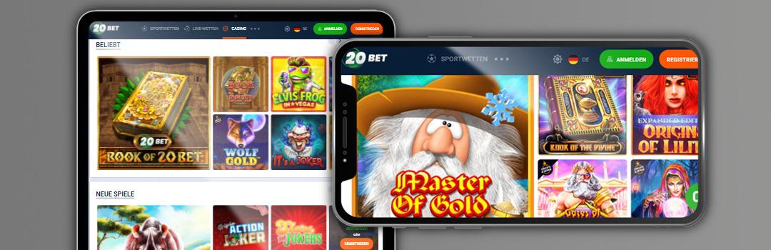 Die besten Spiele im 20bet Casino auf Mobilgeräten